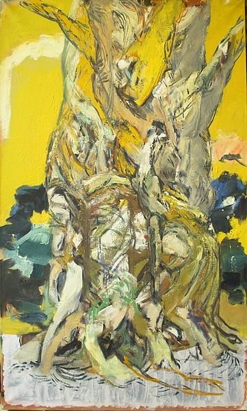 Peinture tronc d'arbre