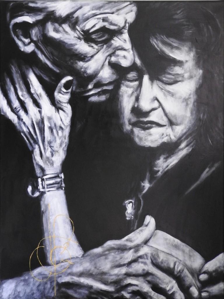 Peinture Tu vois pour grand-mère, c'est toujours grand-père qui ...  (2018.03.31)