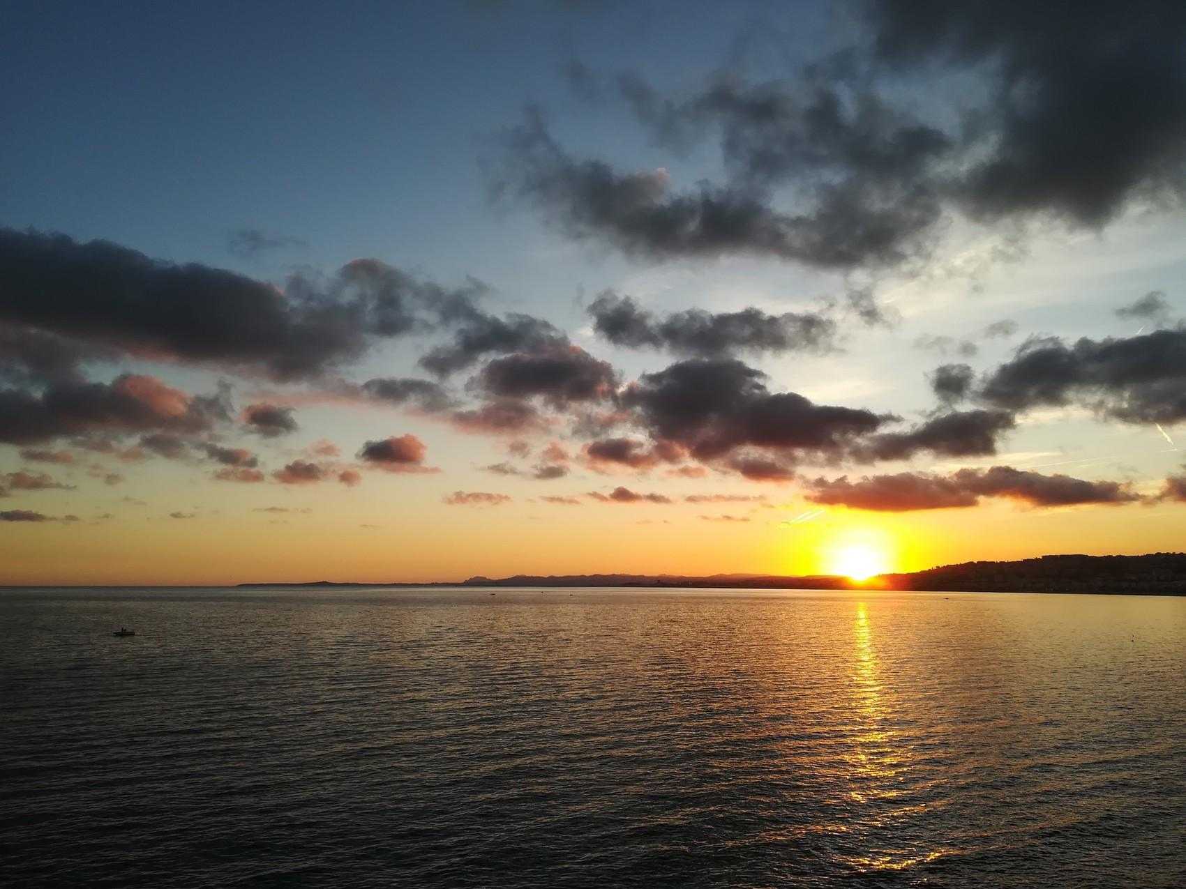 Coucher de soleil sur Nice