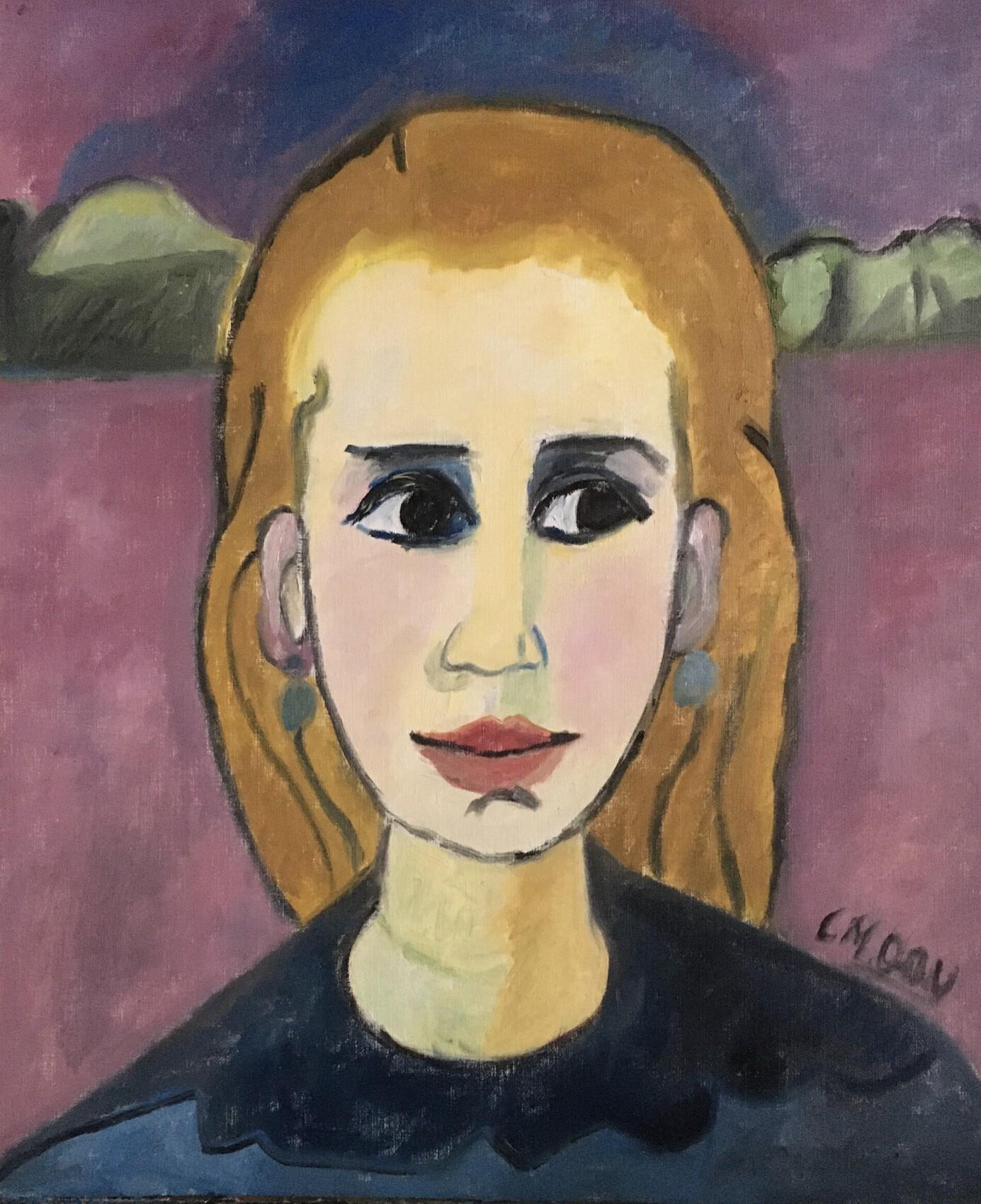 """""""vers la lumière"""" une toile inspirée de Gabriele Münter"""