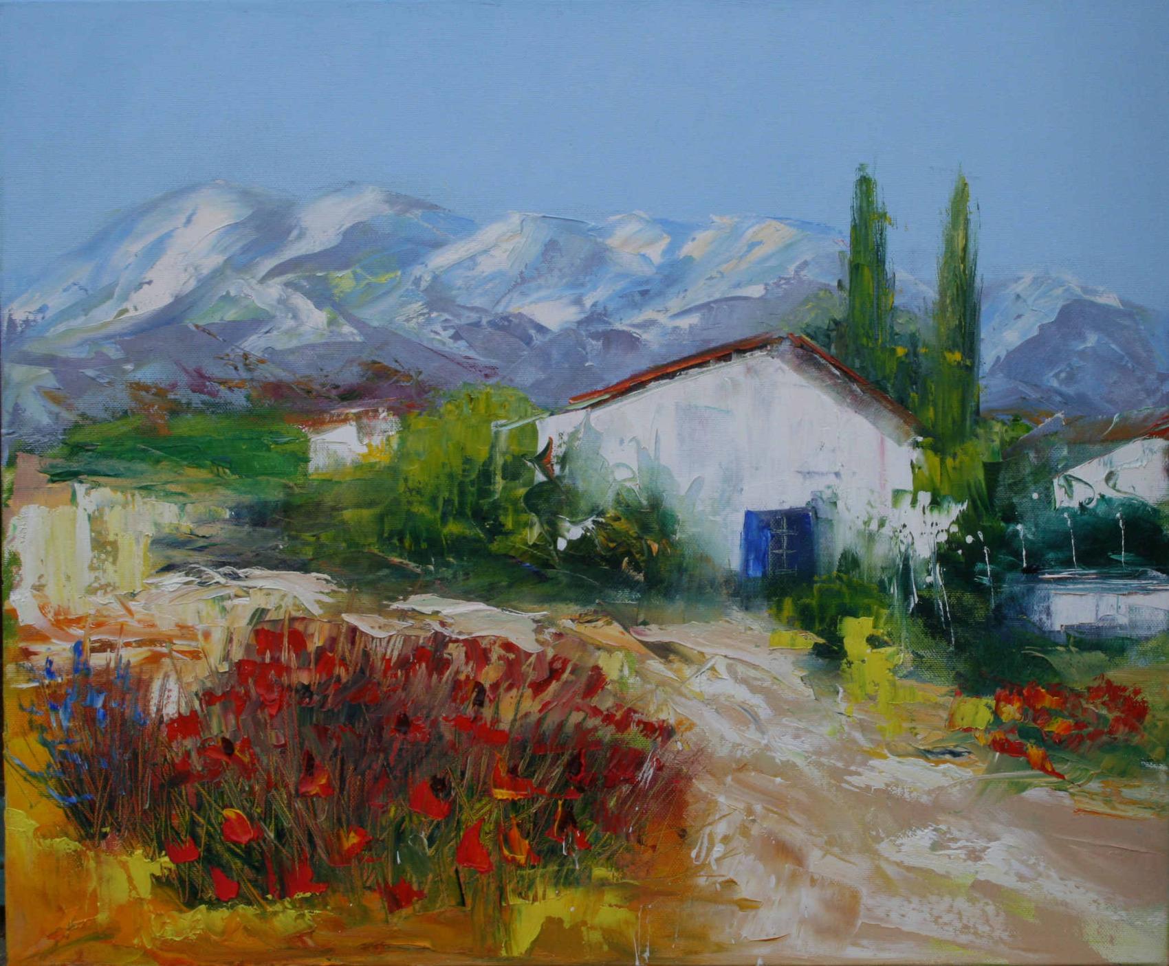 Provence peinture paysage for Paysage peinture