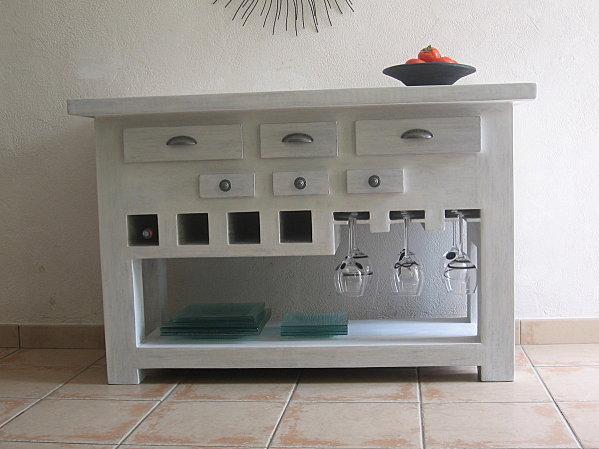 Table console de cuisine en carton