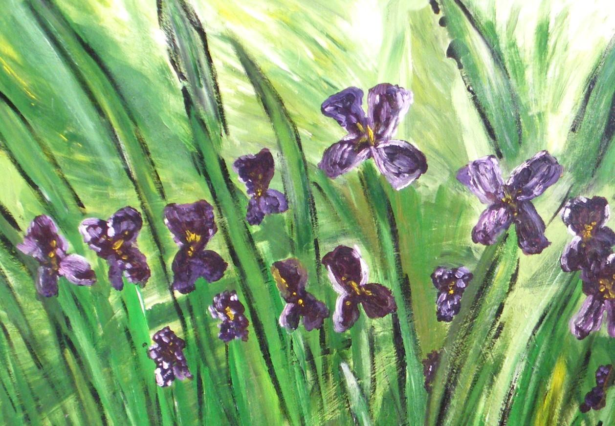 Maison Interieur Bois Moderne : Peinture Les iris