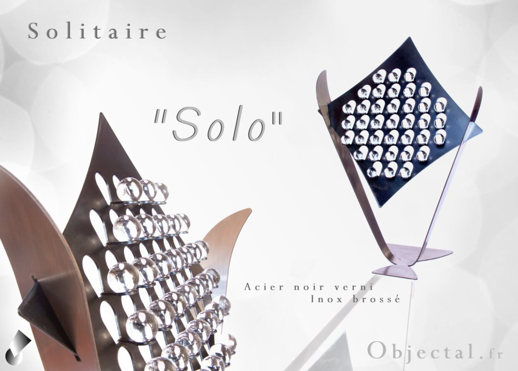 Solitaire '' Solo '' en Acier et Inox by Objectal