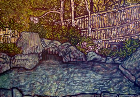 Peinture le premier jardin zen for Le jardin zen lagnieu