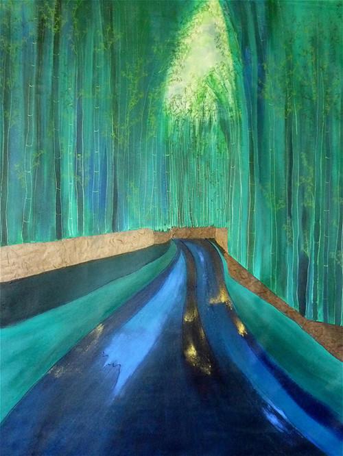 L'allée secrète aux rideaux de bambous