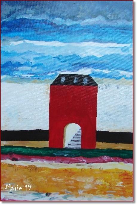 Peinture la maison rouge for A la maison rouge