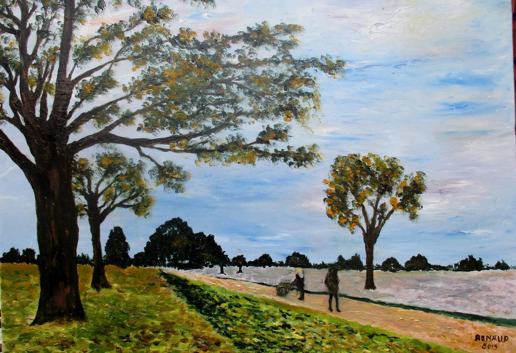 La route de Versailles à Louveciennes (d'après Alfred Sisley)