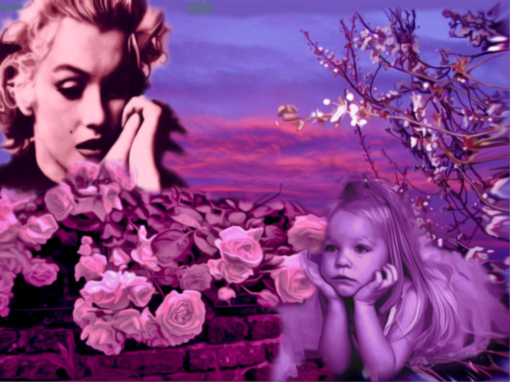 marilyn et l'enfant