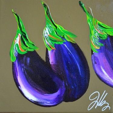 Peinture peinture d 39 aubergines for Peinture aubergine