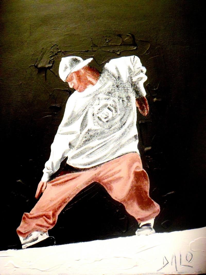 peinture danseur hip