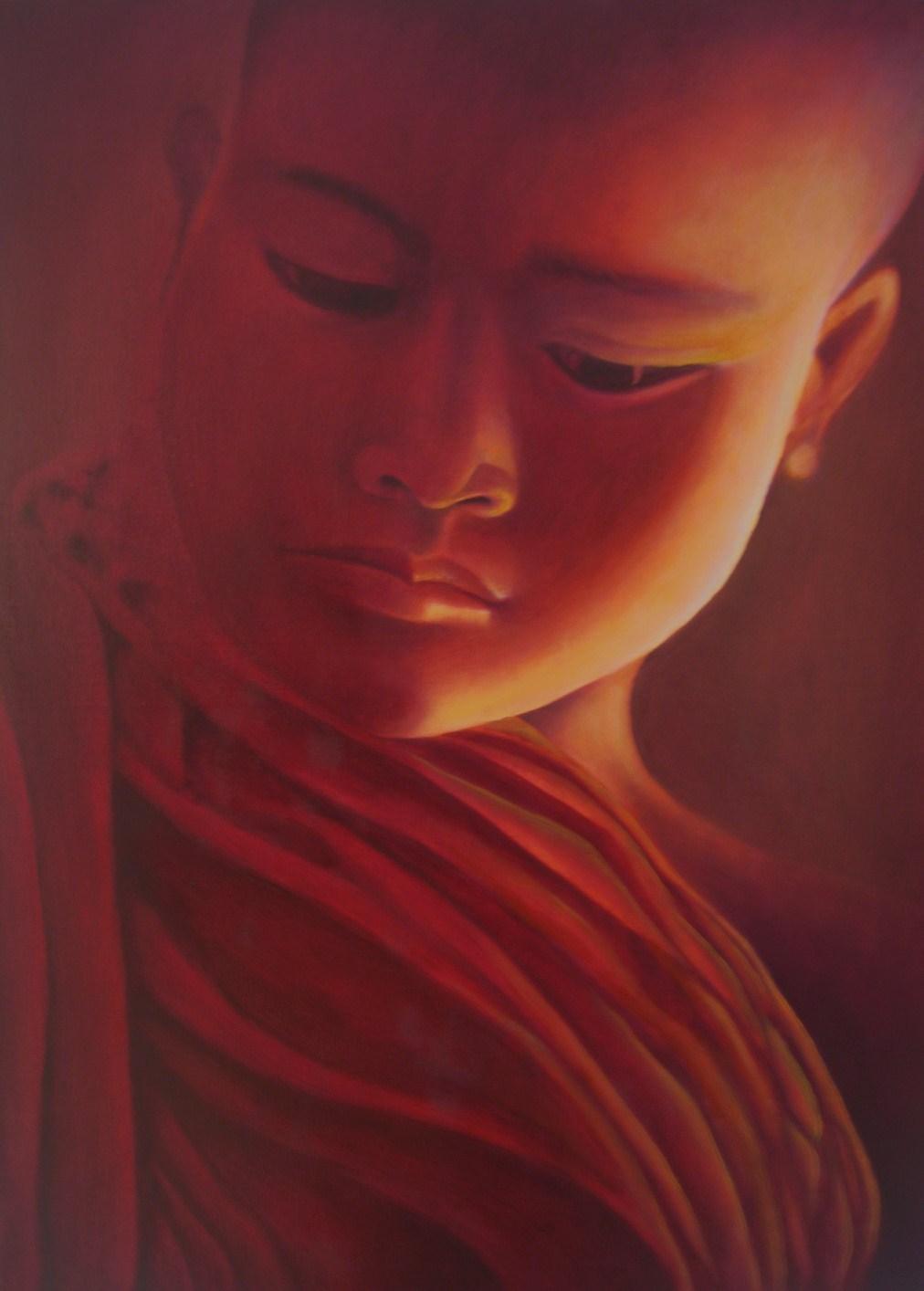 Peinture moine bouddhiste - Peinture sur toile bouddha ...