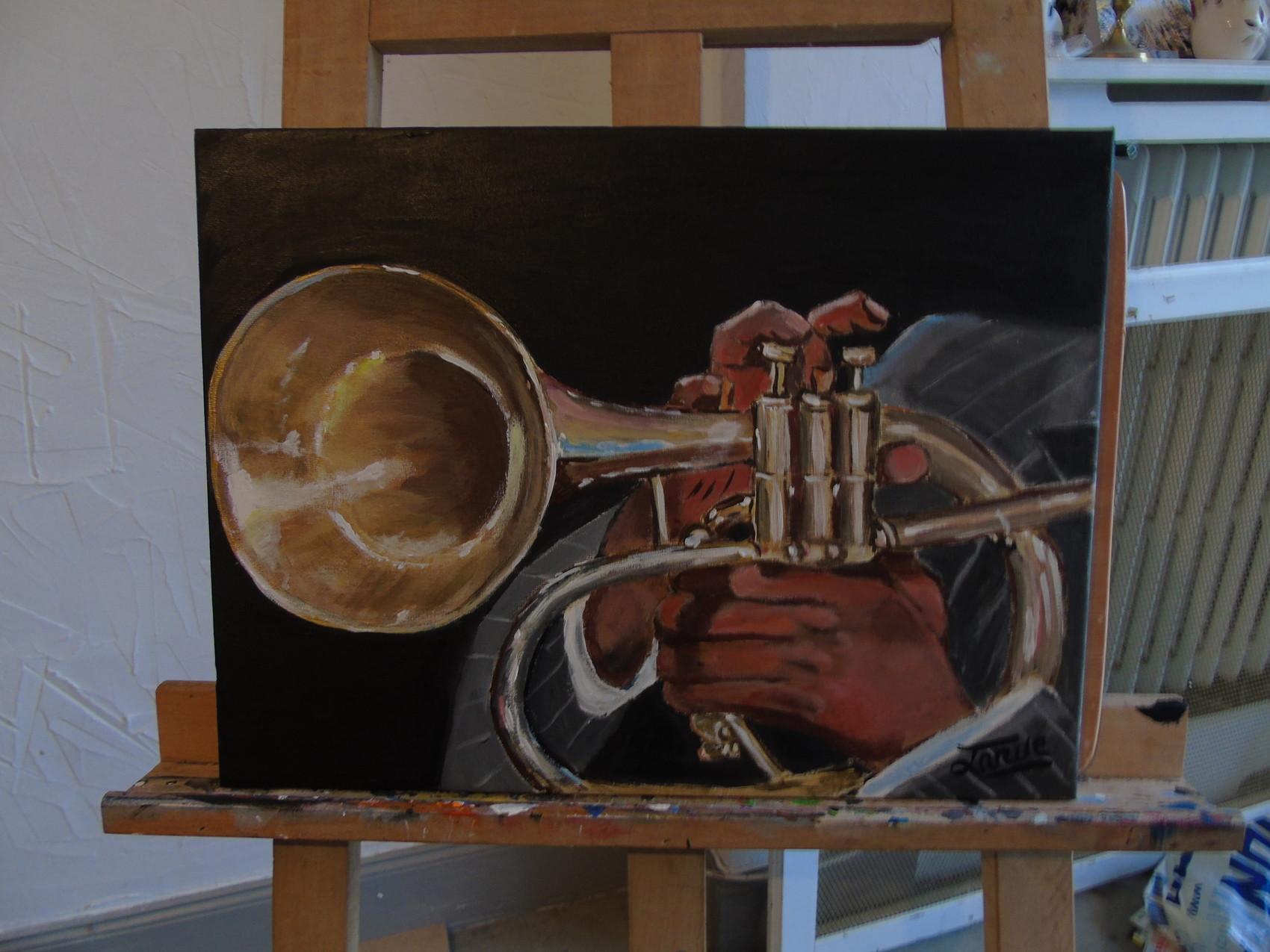 Musicien de jazz qui joue du trombone