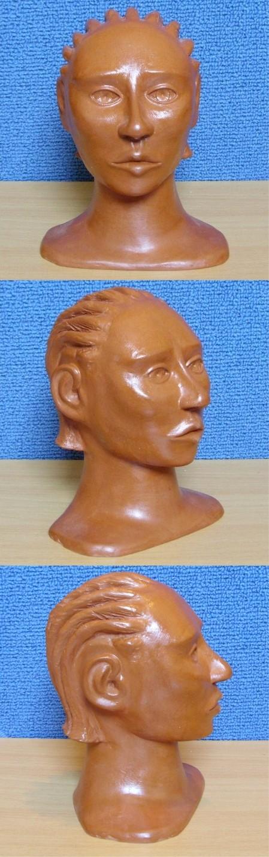 Sculpture en argile, vernis a la gomme-laque ( sculpture numero 2 )