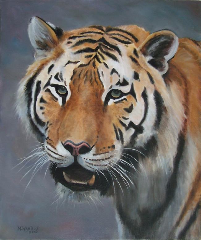 Fabuleux Peinture Tete de tigre JS05