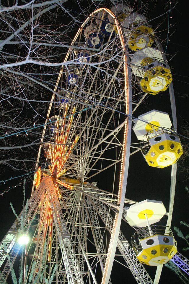 Grande roue un soir avant Noël