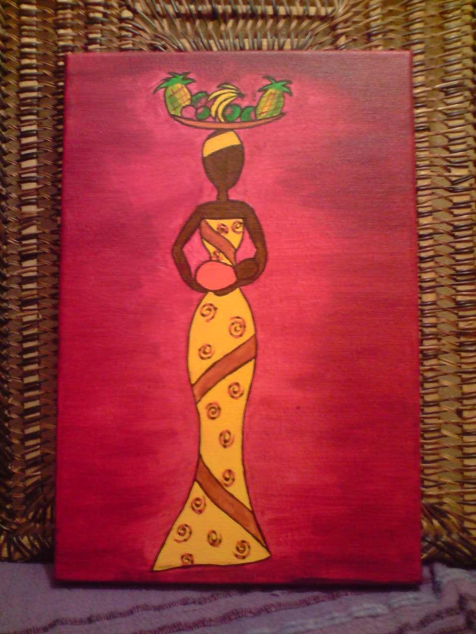 Peinture Femme Africaine Portant Un B 233 B 233