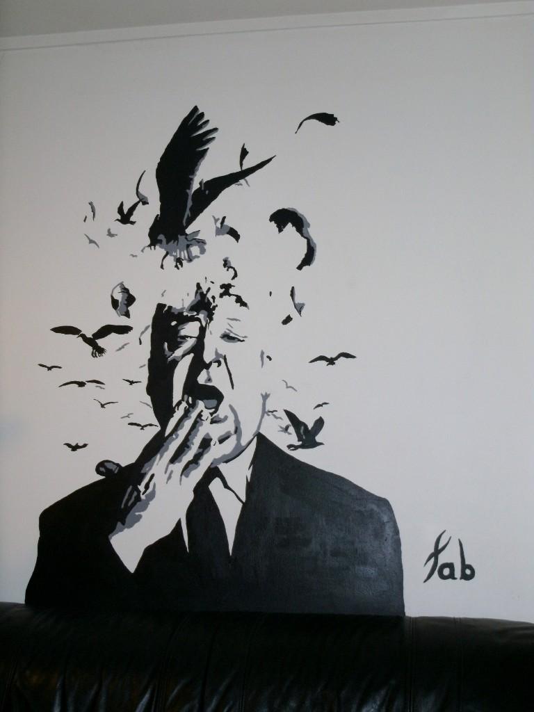 Peinture Des Oiseaux Dans Mon Salon