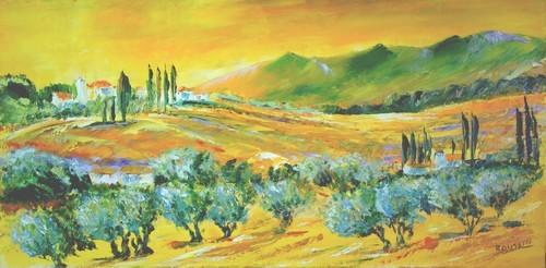 Peinture Paysage de provence 2