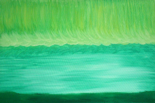 Peinture paysage vert clair for Paysage vert