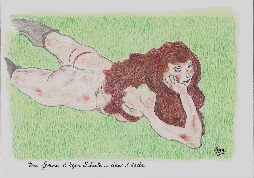 Une femme d'Egon Schiele