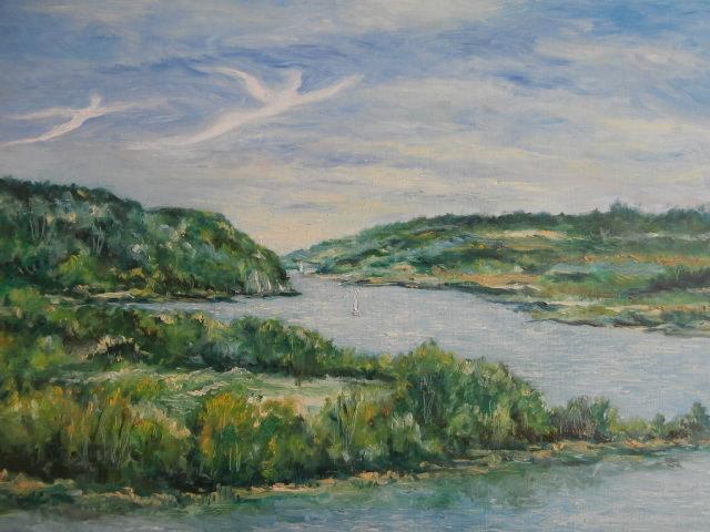 Vue de la Vilaine à La Roche Bernard