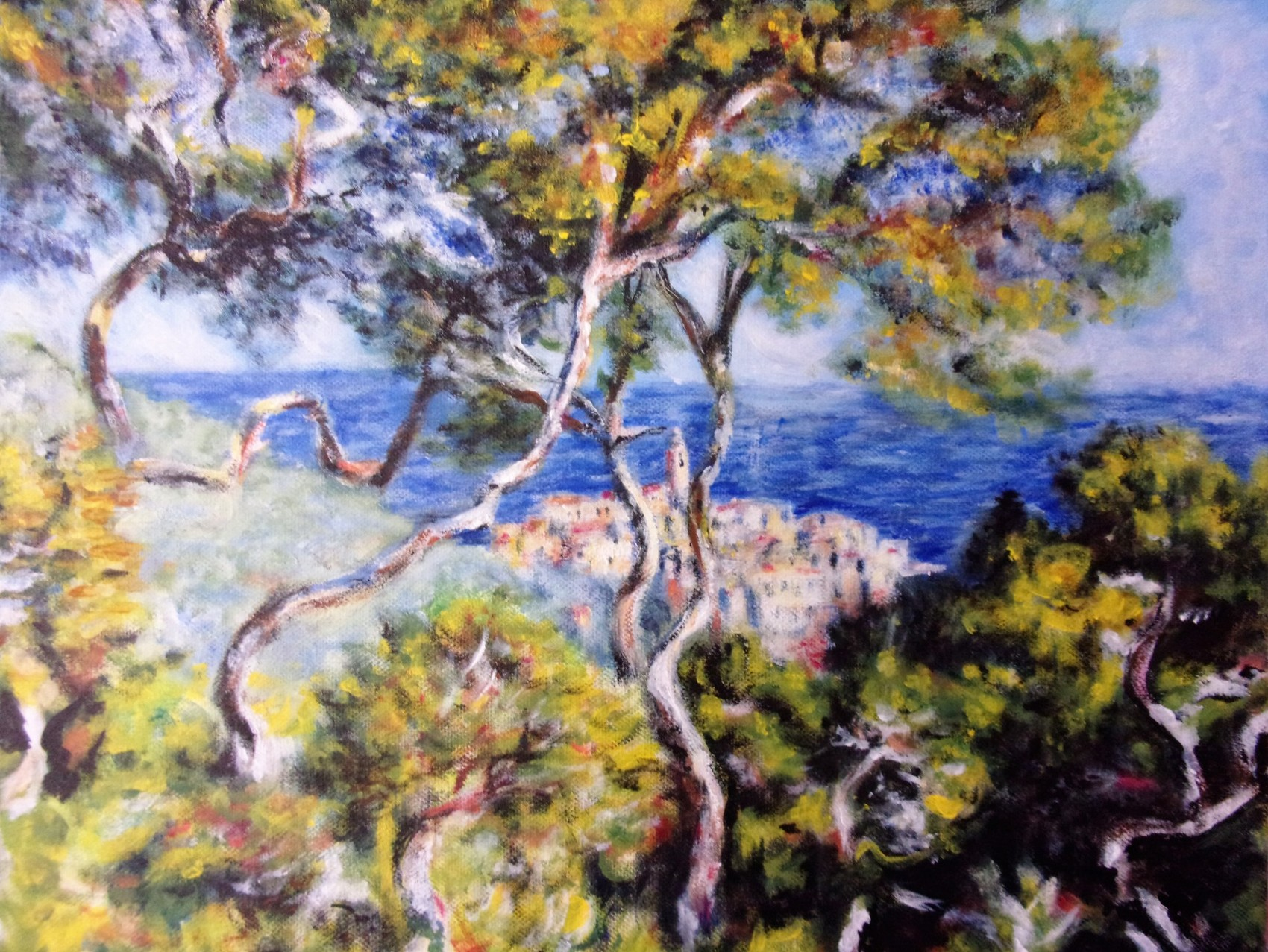 "reproduction du tableau ""brodighera"" de claude monet"