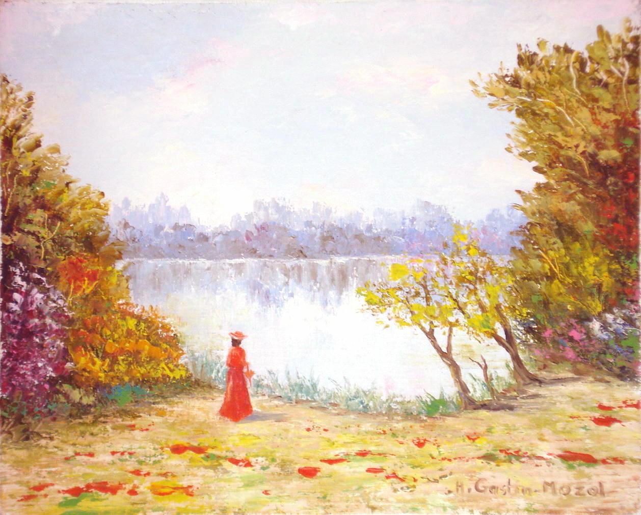 peinture soir d u0026 39 automne
