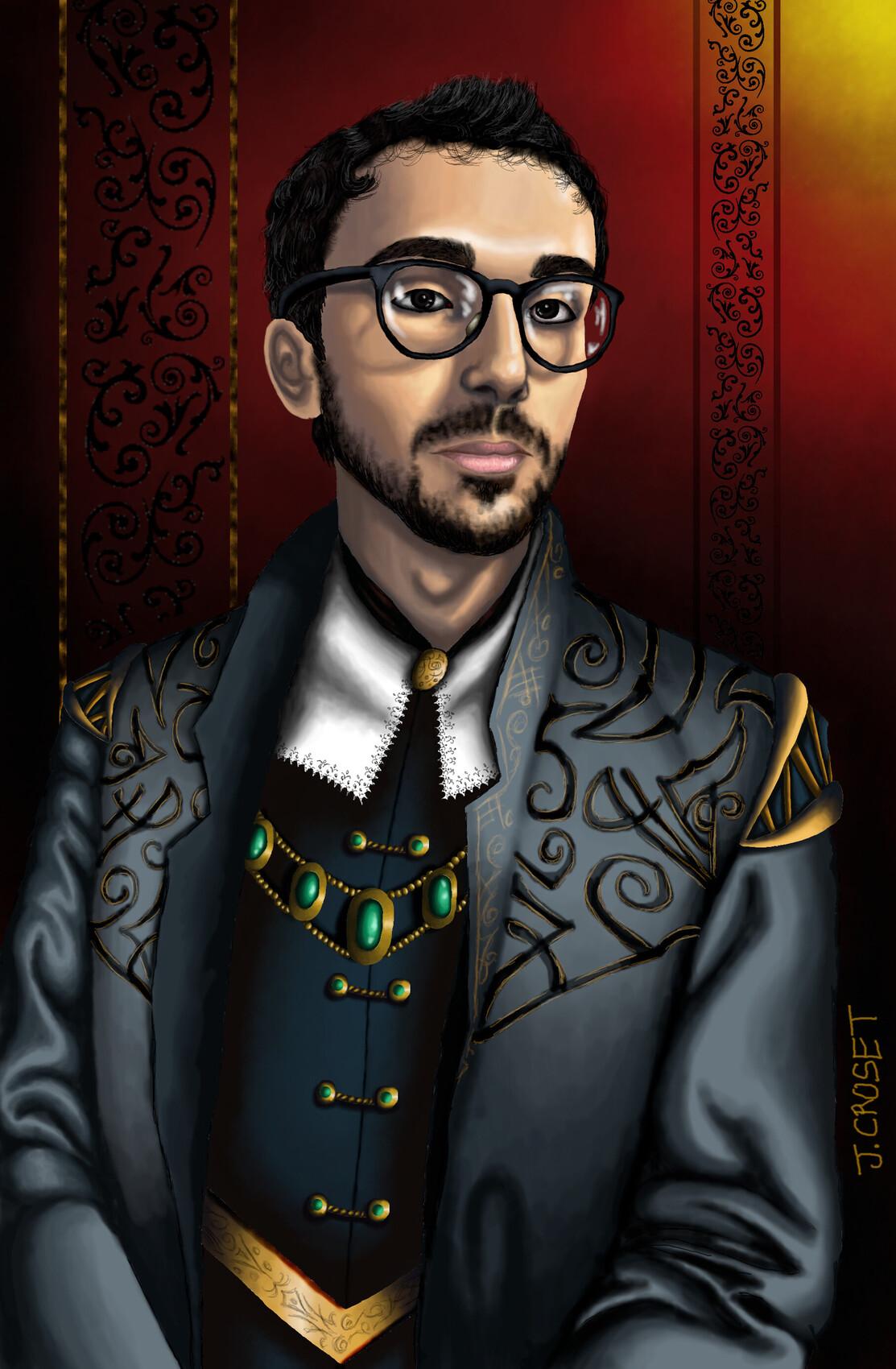 Portrait façon baroque
