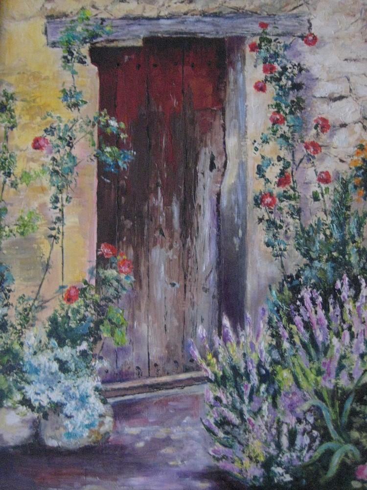 Peinture vieille porte en provence Peinture porte