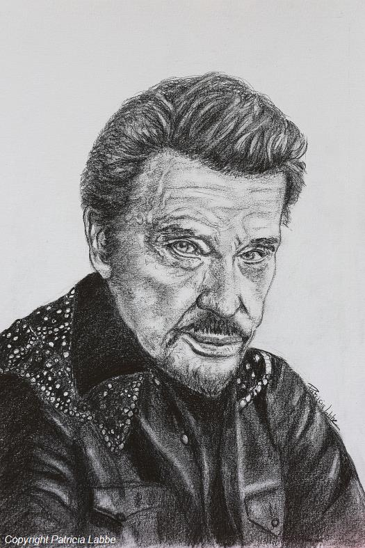 Dessin portrait de johnny hallyday - Housse de couette johnny hallyday ...