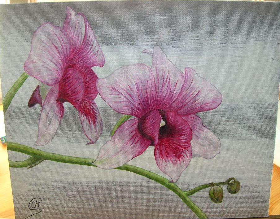 Peindre des fleurs lacrylique - Peindre sur peinture acrylique ...