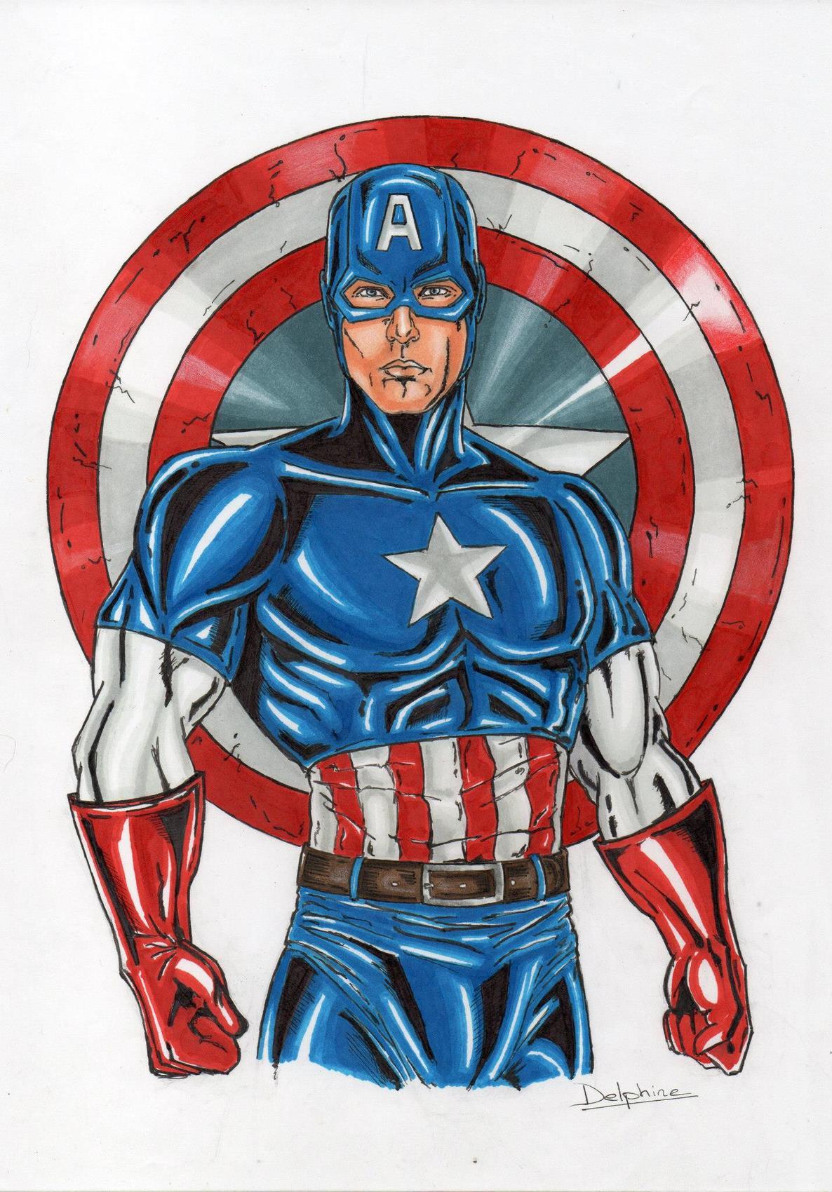 Dessin captain america - Dessin captain america ...
