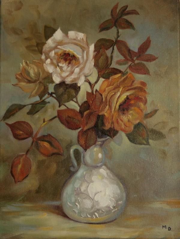 Favori Peinture bouquet de roses OS27