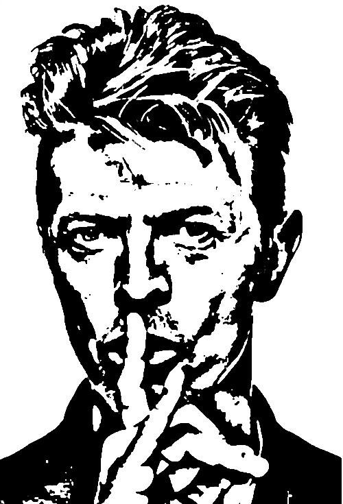 Dessin Portrait de David Bowie
