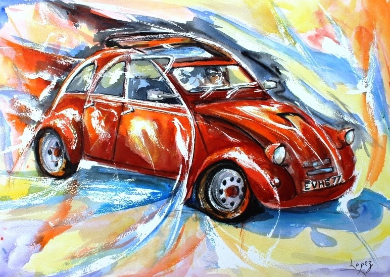 peinture bolide rouge