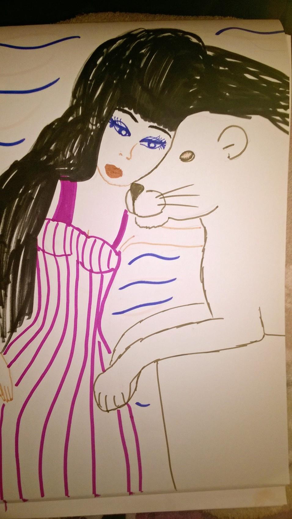 la jeune fille et la lionne
