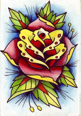 Peinture rose new school - Dessin new school ...