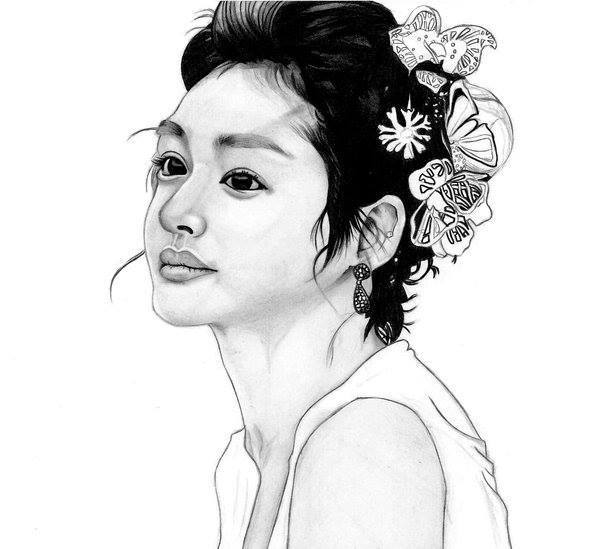 Gut bekannt Dessin portrait femme asiatique HC44