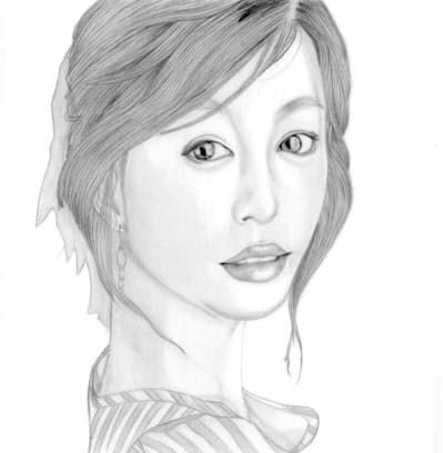 dessin portrait femme asiatique 4. Black Bedroom Furniture Sets. Home Design Ideas