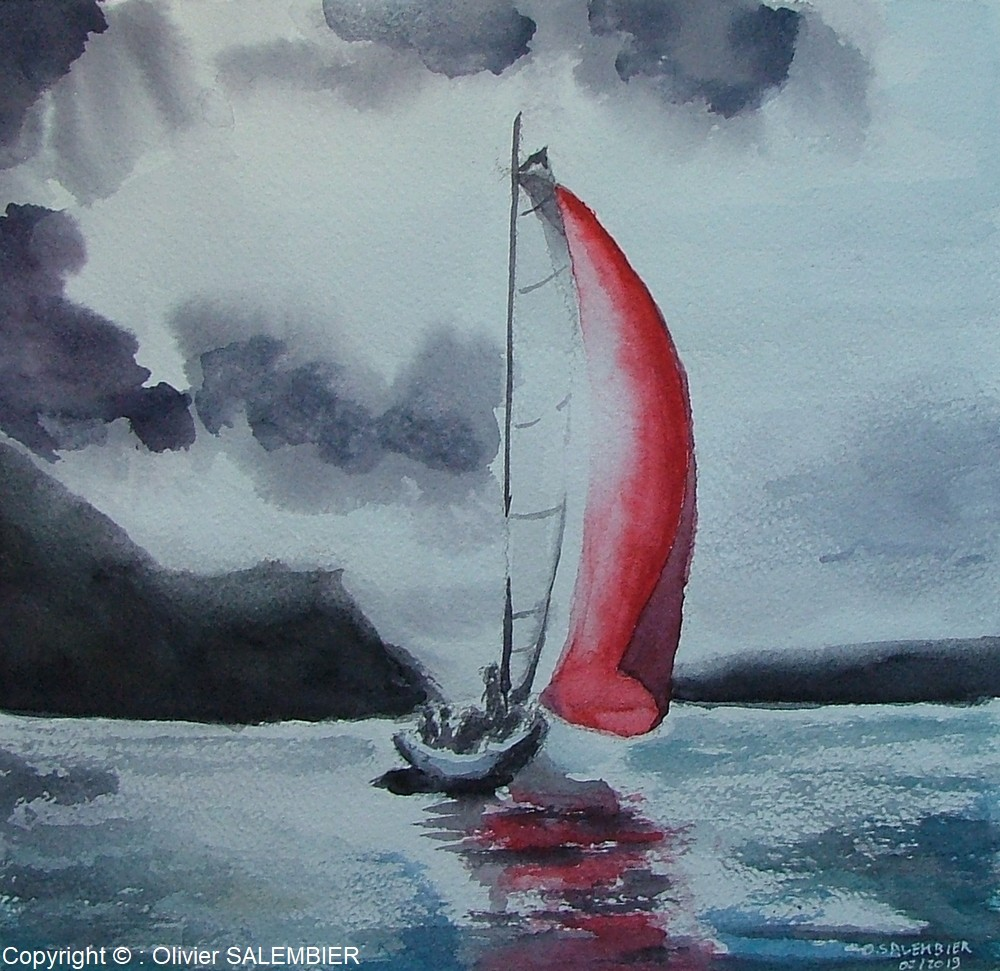 Voile rouge vers l'inconnu