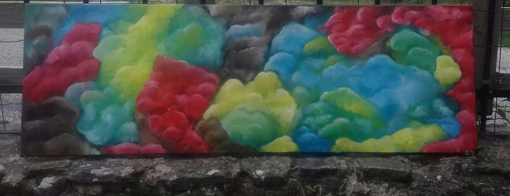 forêt colorée