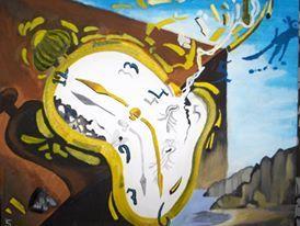 (reproduction Montre molle au moment de la première explosion S.Dali)