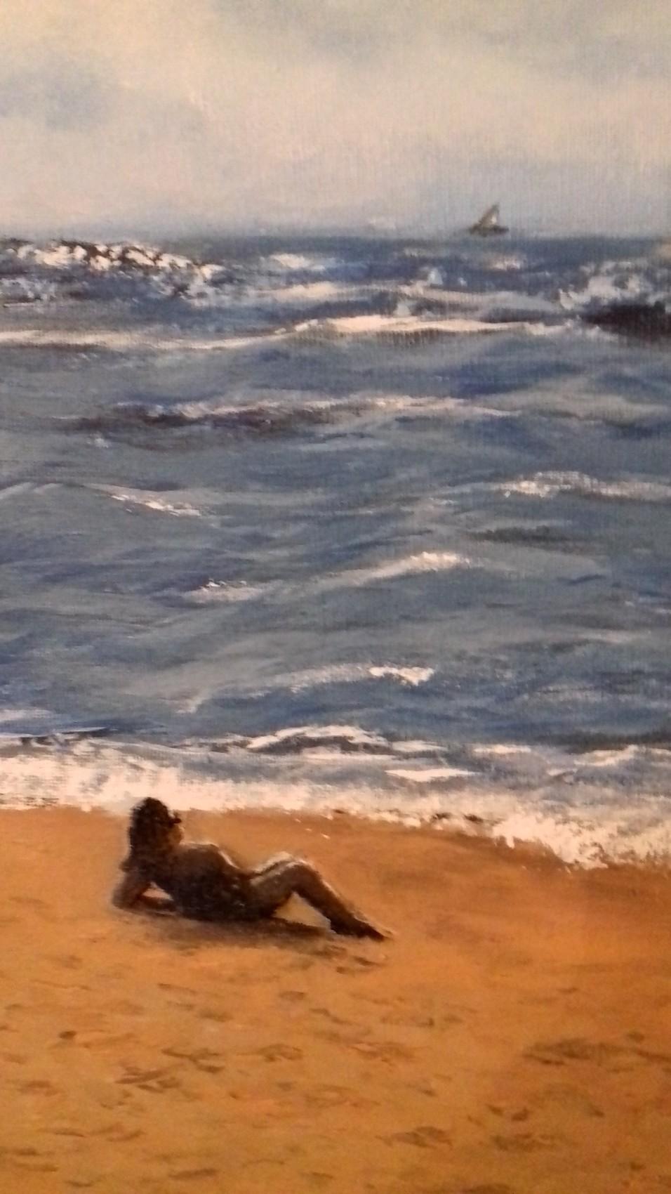 zoom sur La plage 71 cm x 41 cm