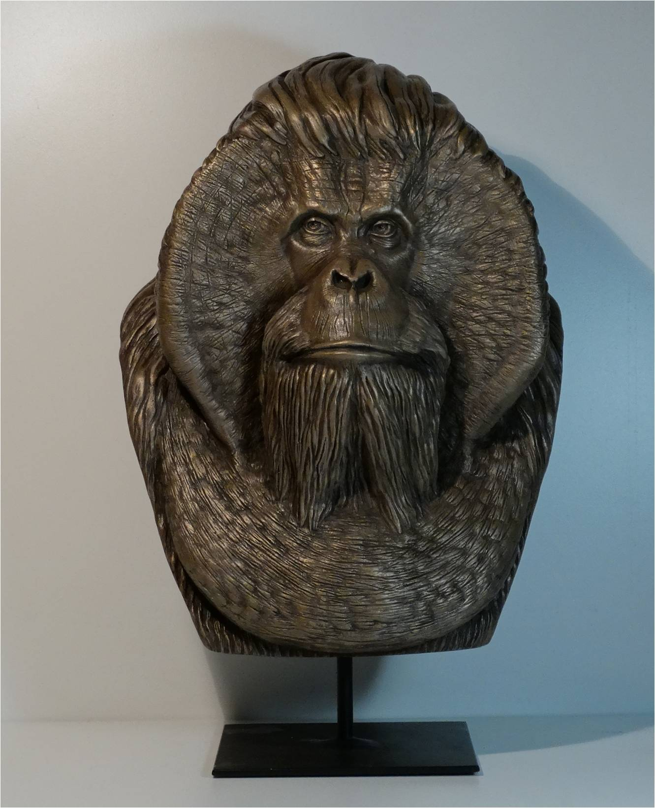 Orang-Outan - Résine - poudre de bronze