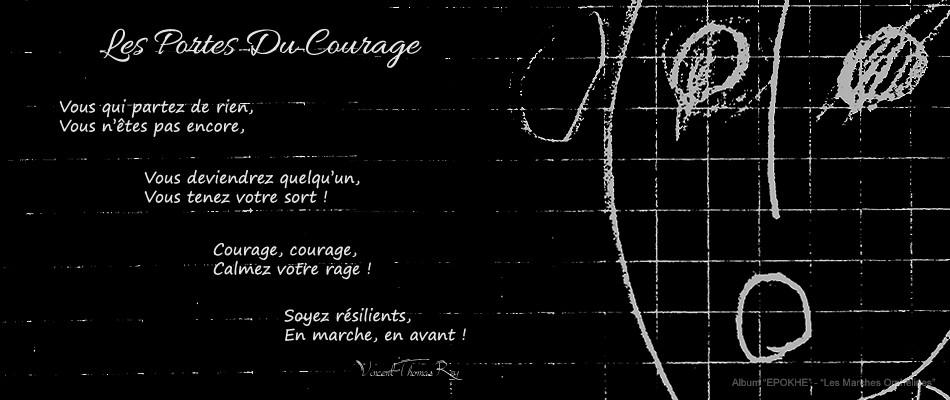 """Poème """"Les Portes Du Courage - (Les Marches Orphelines Partie III)"""" Album """"EPOKHE"""""""