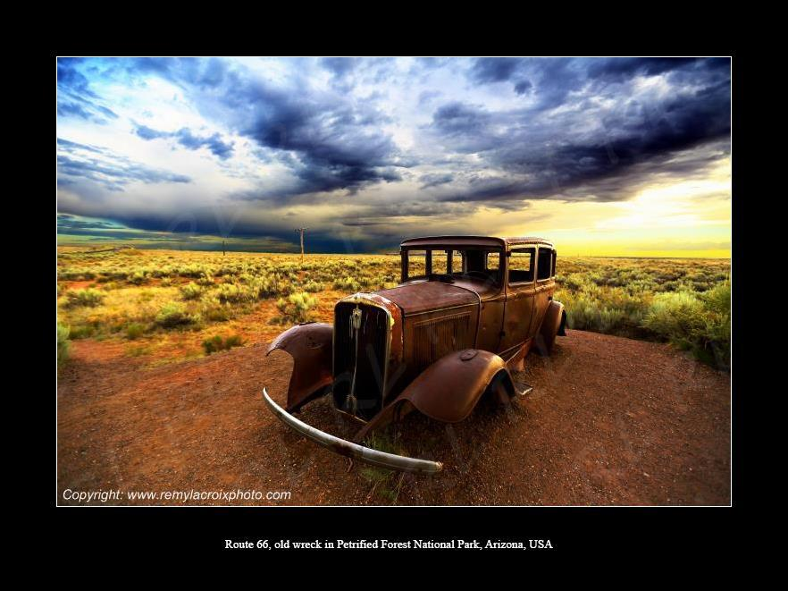 Old wreck ! Route 66 !