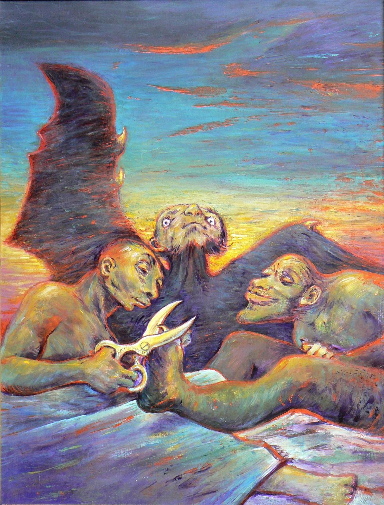 Ils se bichonnent. (Hommage à Goya.)