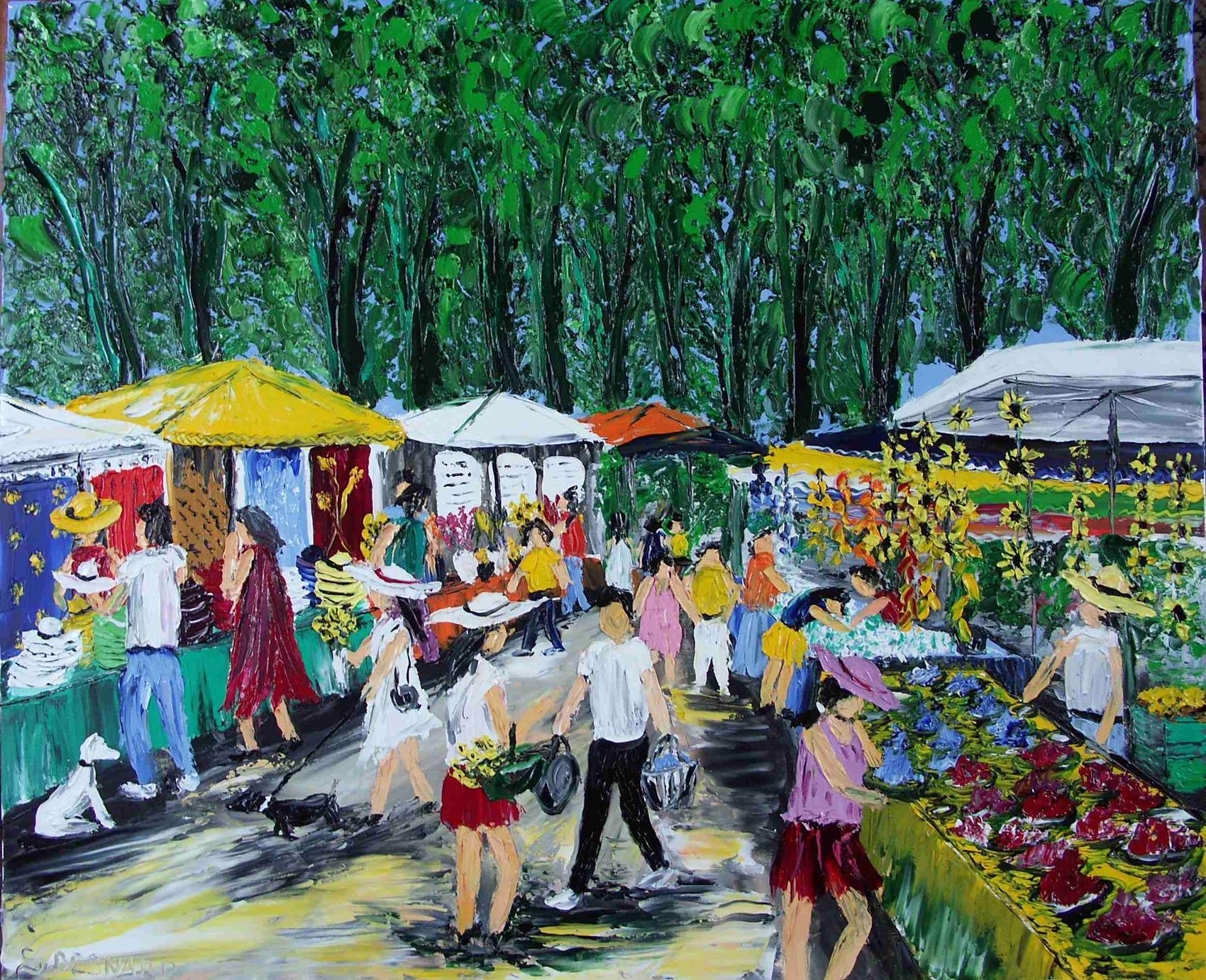 Peinture march proven al - Marche provencal chambray ...