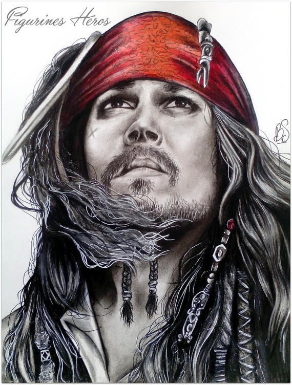 Dessin dessin pirate des cara bes jack sparow - Dessins de pirates ...